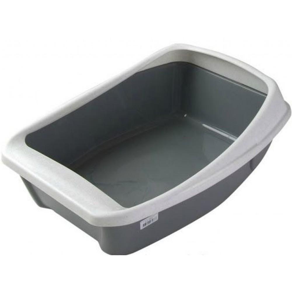 Сибирская кошка,туалет с бортом,44*32*16 см.