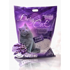 Lucky Cat,силикагелевый наполнитель с ароматом лаванды,22л.(10кг.)