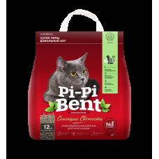 Pi-Pi-Bent Fresh Sensation,комкующий наполнитель с ароматом свежих трав и цветов,пакет 5 кг.