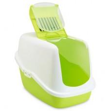 Savic Nestor,лоток-био с фильтром и дверцей бело-зеленый,56*39*38,5 см.
