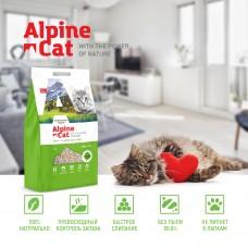 Alpine cat комкующий наполнитель ТОФУ с ароматом зеленого чая,6л.(2,6 кг.)