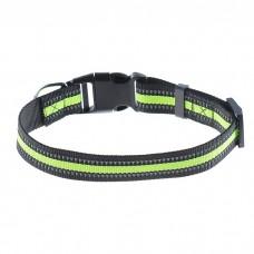 Ошейник для собак черно-зеленый,65 см.