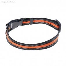 Ошейник для собак черно-оранжевый,60 см.