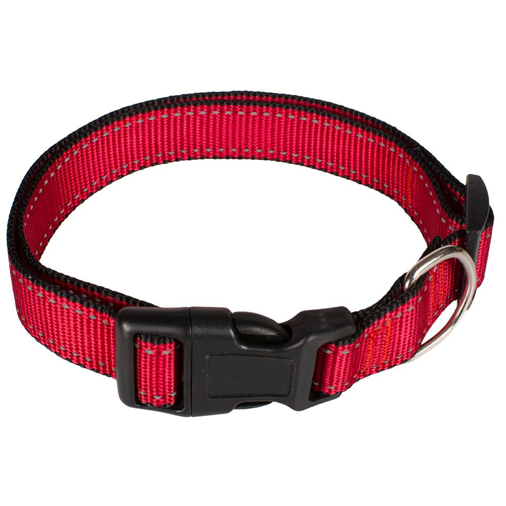 Ошейник для собак черно-красный,55 см.