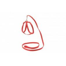 Ошейник+Поводок,для кошек,красный,1,2 м.