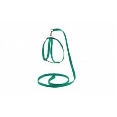 Ошейник+Поводок для кошек,зеленый,1,2 м.