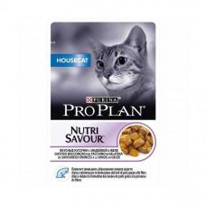 Pro Plan NutriSavour Housecat, влажный корм для домашних кошек с индейкой в желе, пауч. 85гр.