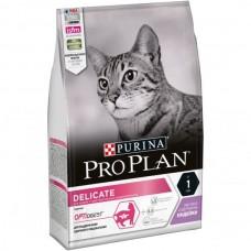 Pro Plan Delicate,сухой корм для кошек с чувствительным пищеварением, с индейкой, уп. 3кг.
