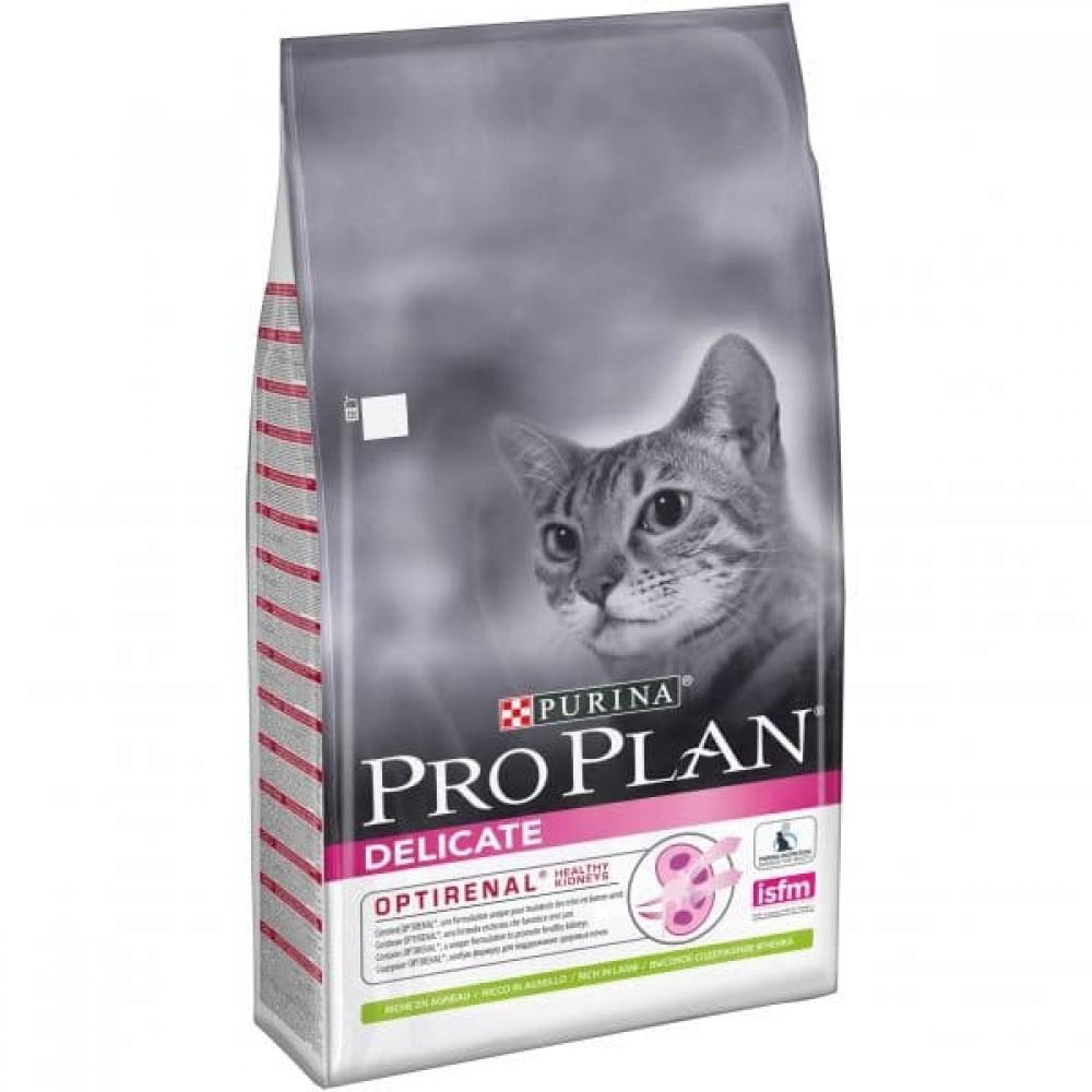 Pro Plan Delicate,сухой корм для кошек с чувствительным пищеварением, с ягненком,уп.10 кг.