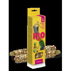 Рио,палочки для средних попугаев с тропическими фруктами,40 гр.