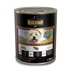 Belcando Best Quality Meat&Liver,влажный корм для щенков и собак с мясом и печенью,банка 800 гр.