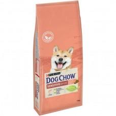 Dog Chow Sensitive,сухой корм для чувствительных собак с лососем и рисом,уп.14 кг.