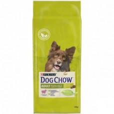 Dog Chow Adult Lamb&Rice,сухой корм для взрослых собак с ягненком,уп.14 кг.