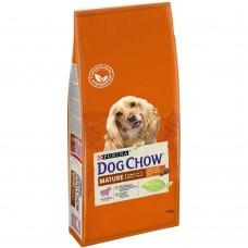 Dog Chow Mature Adult 5+,сухой корм для собак старше 5 лет с ягненком, уп.14 кг.