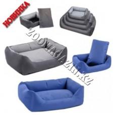 Дарэлл-Оксфорд,лежак прямоугольный для кошек и собак,55*40*18 см.,цвет синий