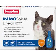 Beaphar Immo Shield Line-on,капли от паразитов для кошек,1 пипетка.