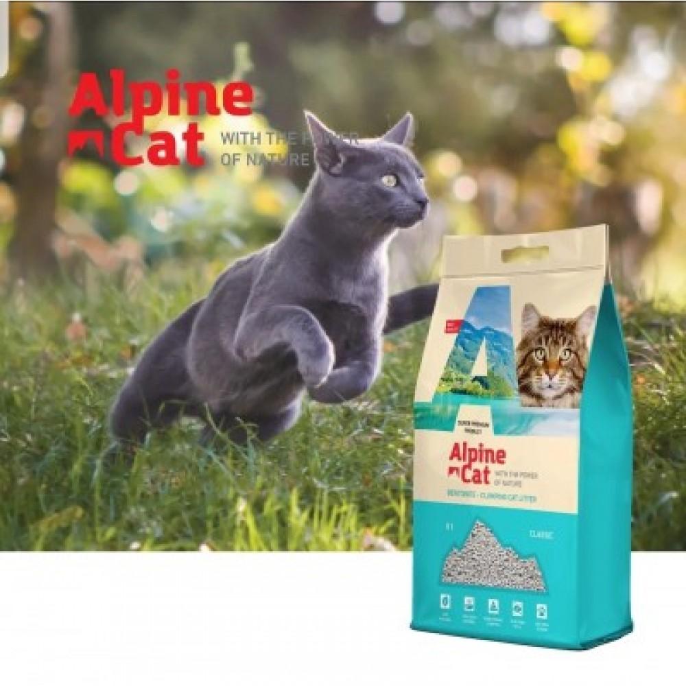Alpine cat,комкующийся наполнитель без аромата,5 л.