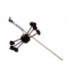 ЕвроПродукт №1,дразнилка паук норковый мех,удочка,50 см.