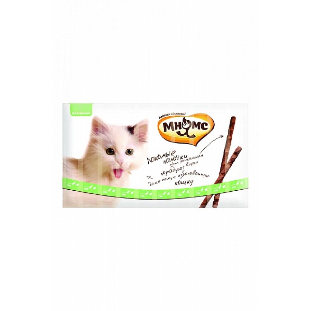 Мнямс лакомые палочки для кошек с уткой и кроликом,уп.13,5 см.10*5 гр.