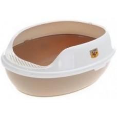 ЕвроПродукт,туалет овальный с бортом,без решетки,50*38*20 см,бежевый