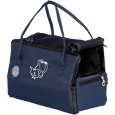 Зооник,сумка-переноска с аппликацией на меху,380х200х260 мм.