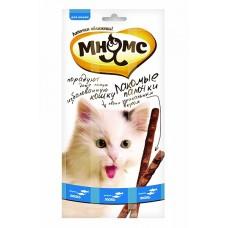 Мнямс лакомые палочки для кошек с лососем и форелью,уп.13,5см.3*5гр.