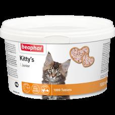 Beaphar Kitty*s Junior+Biotin,сердечки с биотином для котят,уп.150 таблеток