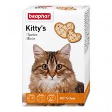 Beaphar Kitty's Taurine+Biotine,витамины для кошек с таурином и биотином,180 таблеток