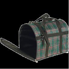 Зооник,сумка-переноска средняя,клетчатая,390х290х275 мм.