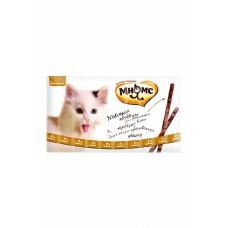 Мнямс лакомые палочки для кошек с цыпленком и уткой,уп.13,5 см.10*5 гр.