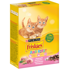 Friskies,сухой корм для котят с курицей, уп.400 гр.