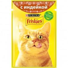 Friskies,влажный корм для кошек, кусочки с индейкой в подливе,85гр.