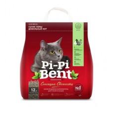 Pi-Pi-Bent Fresh Sensation,комкующий наполнитель с ароматом свежих трав и цветов,пакет 10кг