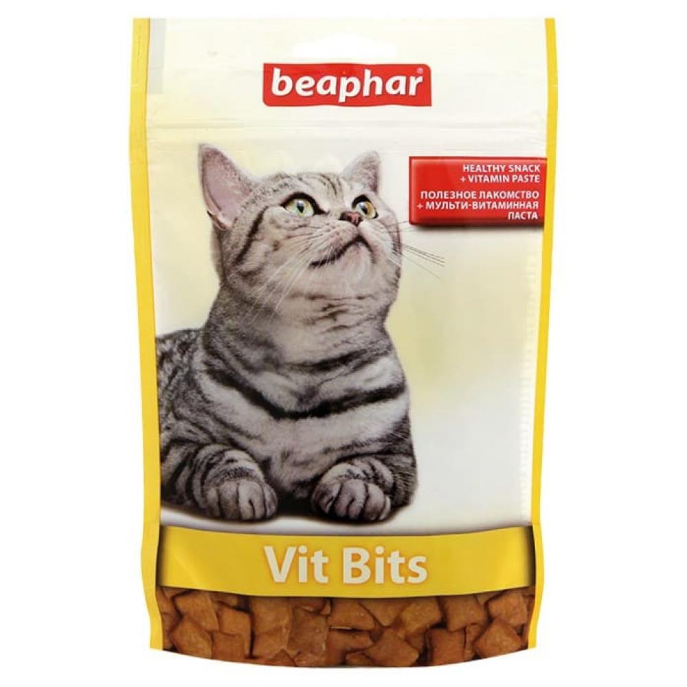 Beaphar Vit-Bits,подушечки для кошек,лакомства с витаминной пастой,35 гр.