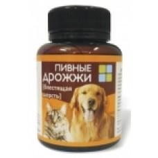 Вака,пивные дрожжи с морской капустой,витамины для собак и кошек,уп.80 шт.