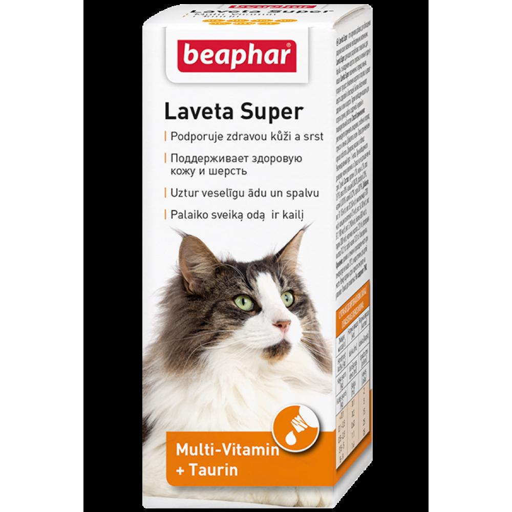 Beaphar Laveta Super Cat,мультивитаминная добавка для кошек,50 мл.