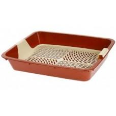 Dogman,туалет большой с решеткой для кошек,42*37*7 см.