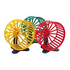 Зооник,колесо пластмассовое большое для грызунов с подставкой