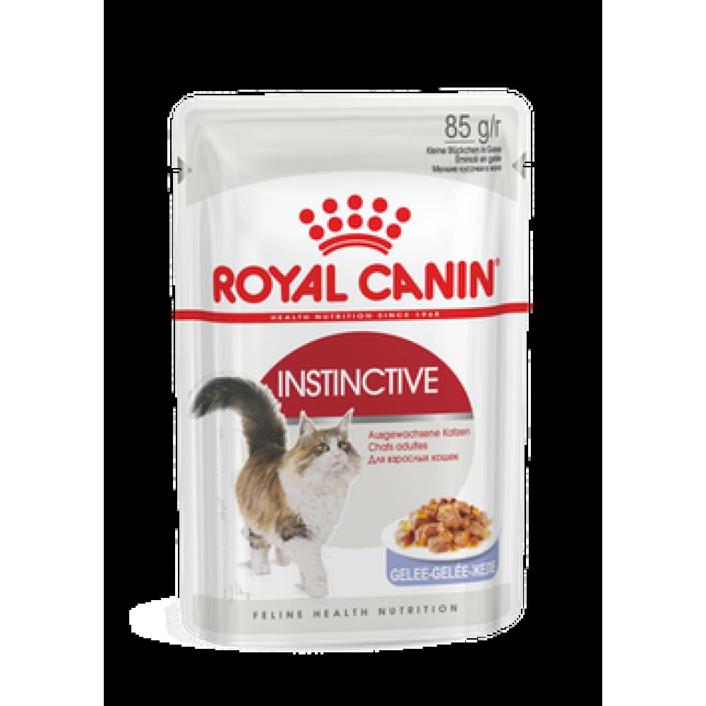 Royal Canin Instictive in jelly,полнорационный корм для взрослых кошек в желе, уп.12*85гр.