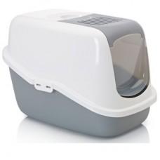 Savic Nestor,лоток-био с фильтром и дверцей бело-серый,56*39*38,5 см.