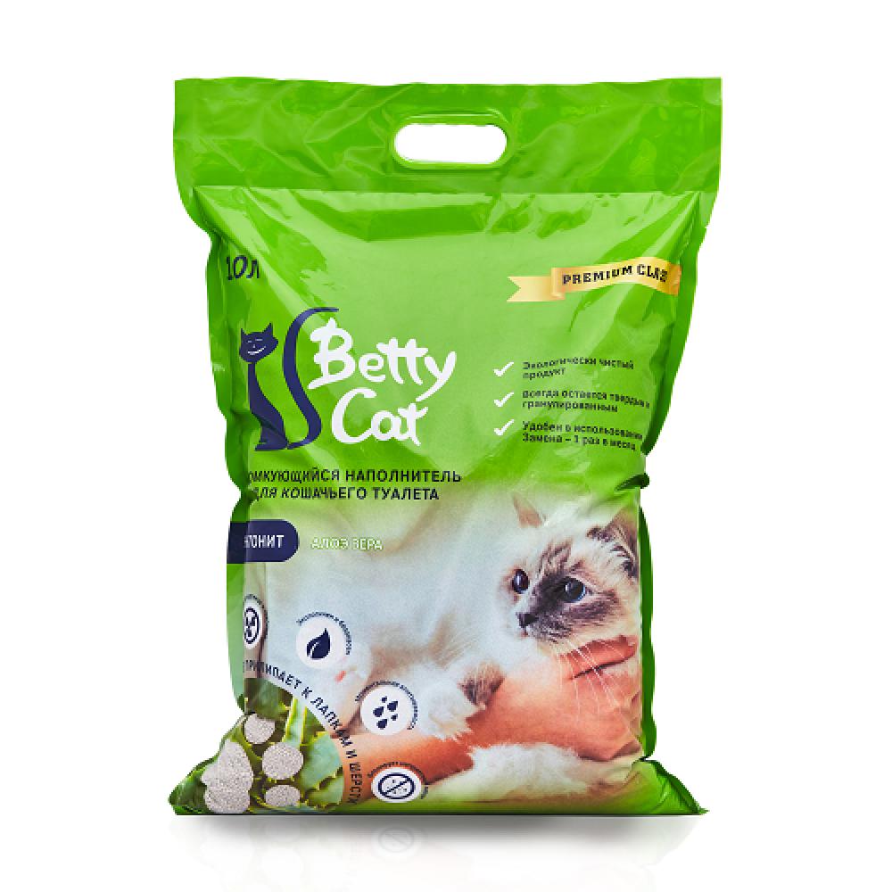 Betty Cat,комкующий наполнитель для кошачьего туалета с ароматом алоэ вера,10л.(8 кг.)