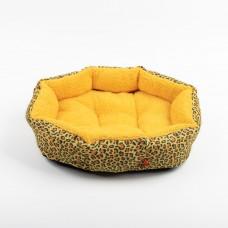 """ЕвроПродукт №1,фэшн лежанка """"Леопард"""" с подушкой,52х43х16 см."""