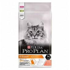 Pro Plan Elegant, корм для взрослых кошек для поддержания красоты шерсти кожи, с лососем, НА ВЕС