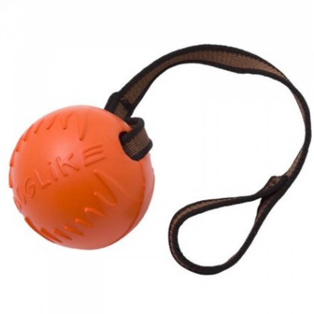 Doglike,мяч с лентой малый,D=6,5см,оранжевый