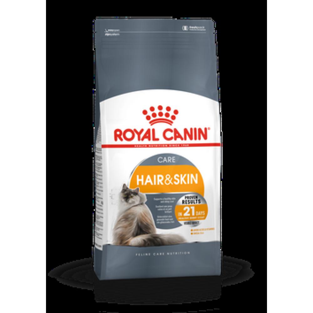 Royal Canin Hair & Skin,корм для кошек питание шерсти, уп. 2кг