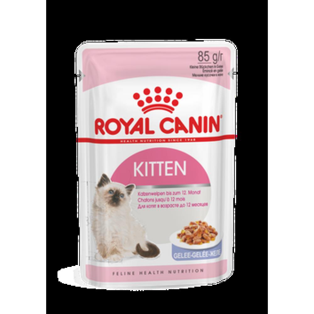 Royal Canin Kitten in jelly, полнорационный корм для котят до 12 месяцев,уп.12*85гр.