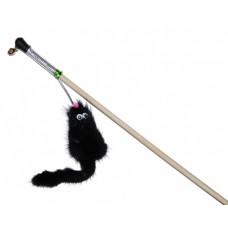 N1 Дразнилка Хвостик, норка, с колокольчиком, на палочке, 50 см