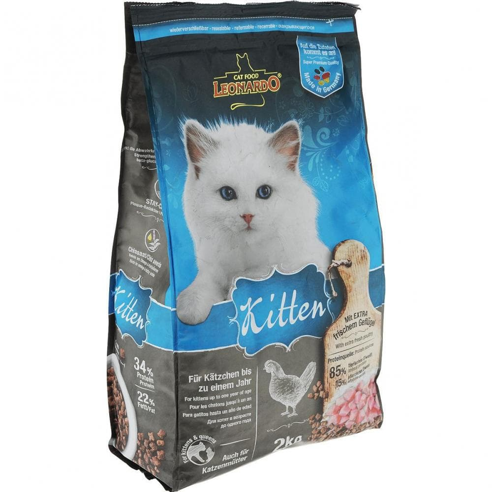 Leonardo Kitten,сухой корм для котят с курицей,уп.2 кг.