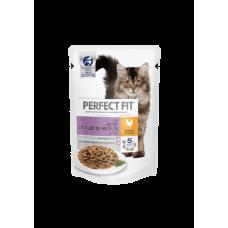 Perfect Fit Junior влажный корм для котят с курицей в соусе 85гр
