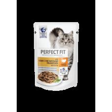 Perfect Fit Sensitive для кошек с чувствительным пищеворением , с индейкой 85гр